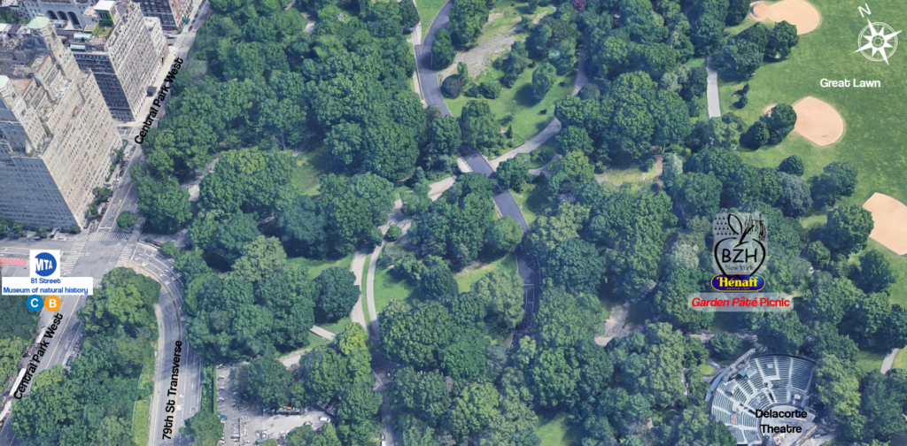 3D map of the picnic location